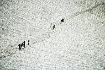 Hikers ascending the Mutnovsky Volcano, Kamchatka, Petropavlovsk Kamchatsky, Russia - p301m714159f by Markus Renner