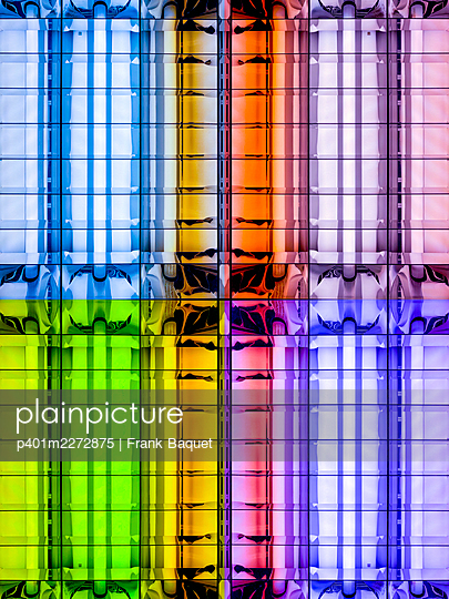 Abstract light kaleidoscope - p401m2272875 by Frank Baquet