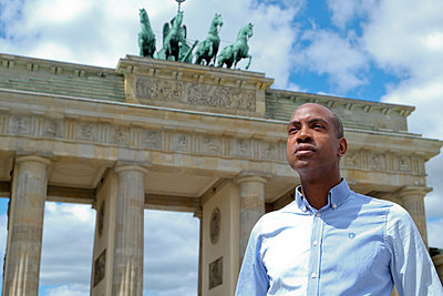 Tourist at Brandenburg Gate - p817m1461873 by Daniel K Schweitzer