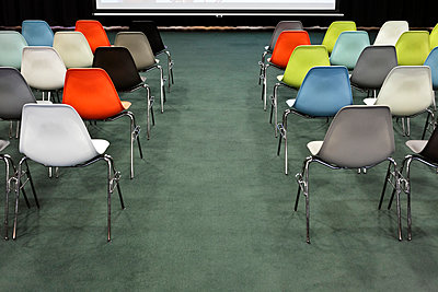 Colourful chairs - p265m1000599 by Oote Boe
