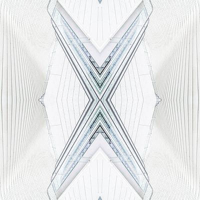 Abstract kaleidoscope pattern Liège-Guillemins station in Liège - p401m2209302 by Frank Baquet