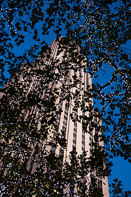 View of Rockefeller Centre Tower  - p1057m1466838 by Stephen Shepherd