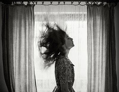 Hair Flip - p1503m2015940 by Deb Schwedhelm