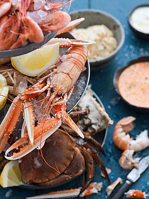 Various seafood - p312m1075982f by Matilda Lindeblad