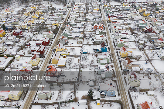 Houses at winter - p312m2119271 by Johner