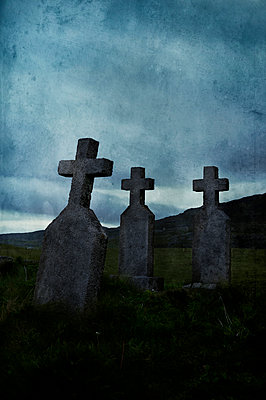 Cemetery on the Isle of Barra, Scotland - p470m2128884 by Ingrid Michel