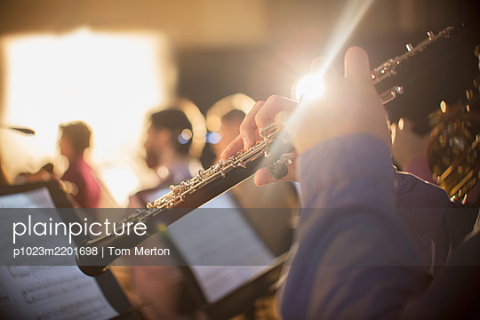 Oboist performing - p1023m2201698 by Tom Merton