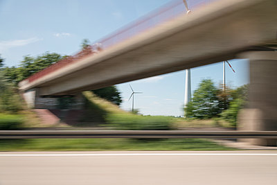 Highway bridge blurred view - p335m1152376 by Andreas Körner