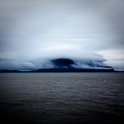 Cloud hat on the Fjord - p1513m2039163 by ESTELLE FENECH