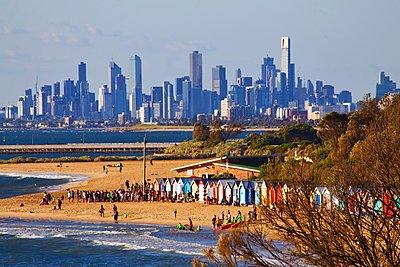View from Brighton Beach - p1399m1538815 by Daniel Hischer