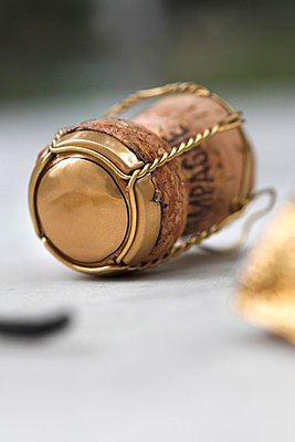 Champagne cork still life - p30119857f by Marc Volk
