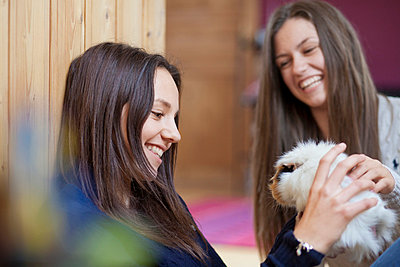Girly with a Guinea pig - p586m660803 by Kniel Synnatzschke