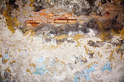 A damaged wall - p9246712f by Image Source