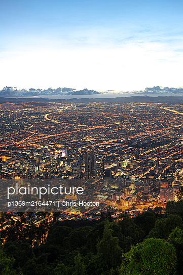 View of Bogota from Monserrate - p1369m2164471 by Chris Hooton