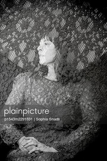 Woman in a lace dress - p1543m2291591 by Sophia Snadli