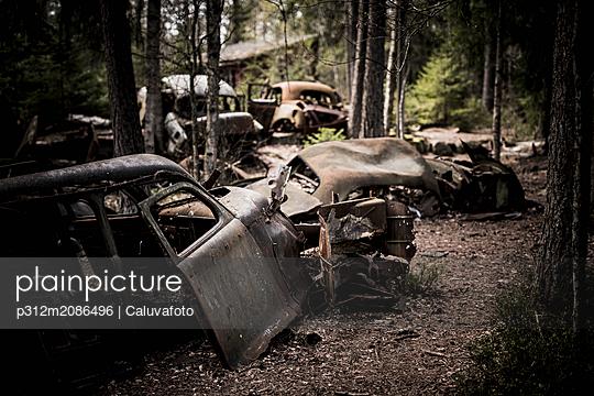 Abandoned car wrecks - p312m2086496 by Caluvafoto
