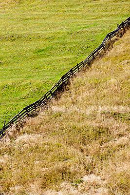 Holzzaun am Berghang - p248m952983 von BY