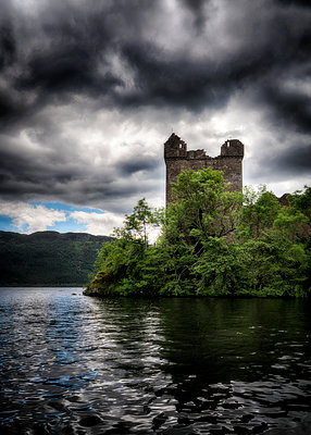 Loch Ness Ruin - p1154m1162662 by Tom Hogan