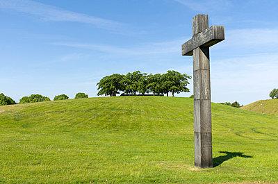 Stone cross in old cemetery Skogskyrkogarden - p5756941 by Stefan Ortenblad