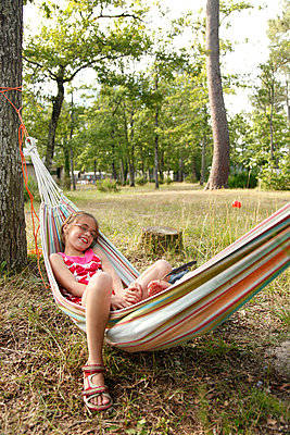 Relaxing in the hammock - p249m891209 by Ute Mans