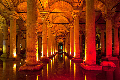 The byzantine Basilica Cistern, Istanbul, Turkey - p429m665289f by Henglein and Steets