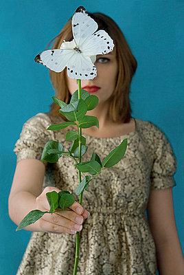 Behind flower - p6780032 by Christine Mathieu