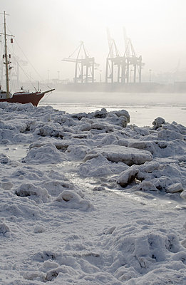 Harbour Hamburg in winter - p7920002 by Nico Vincent