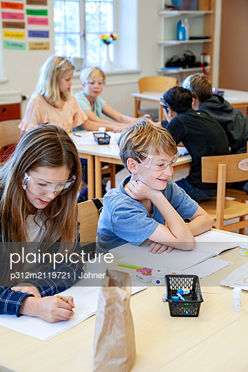 Children in classroom - p312m2119721 by Johner