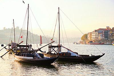 Portugal, Porto, Douro, Vila NovadeGaiaport wine boats - p300m2144226 by Michael Reusse (alt)