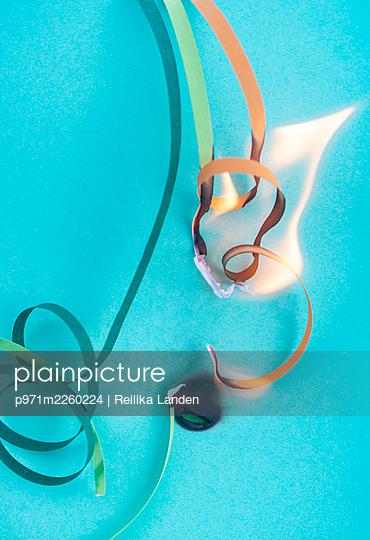 Burning paper strip - p971m2260224 by Reilika Landen