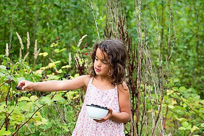 Girl with Blackberries - p1231m1466437 by Iris Loonen