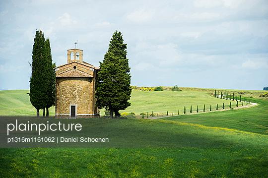 Vitaleta Kapelle, bei Pienza, Val d`Orcia, Provinz Siena, Toskana, Italien, UNESCO Welterbe - p1316m1161062 von Daniel Schoenen