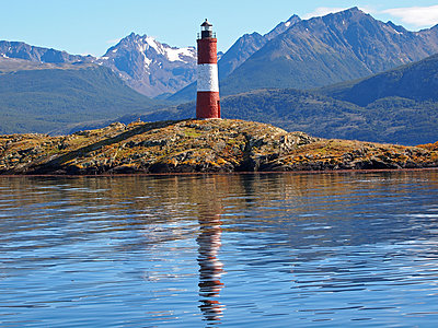Lighthouse in Tierra del Fuego - p338m1355492 by Marion Beckhäuser