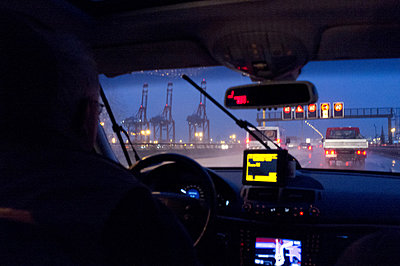 Taxi driver - p1061m855521 by Virginie Bled