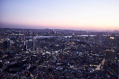 View over Seoul - p1492m2178695 by Leopold Fiala
