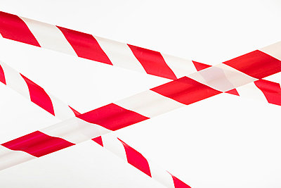 Crisscrossed red and white striped cordon tape  - p30119351f by Epoxydude
