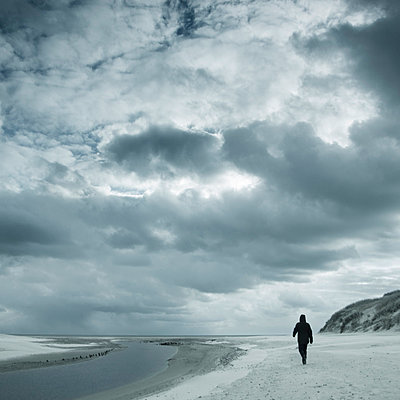 Alone at the beach - p992m791624 by Carmen Spitznagel