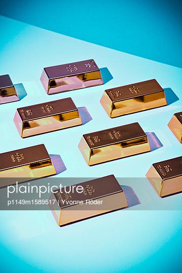 Goldbarren - p1149m1589517 von Yvonne Röder