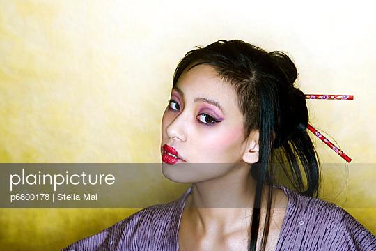 Japanese woman - p6800178 by Stella Mai