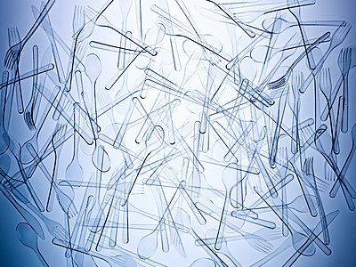 Structures plastic cutlery - p1318m2031931 by Tom Seelbach