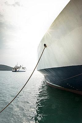 Greece, Igoumenitsa, moored ferry - p300m1156482 by Deyan Georgiev