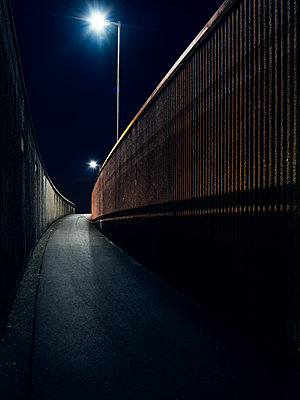 subway exit at night - p1280m2077188 by Dave Wall