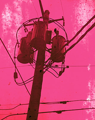 Electrical wires and phone lines - p1614m2208718 by James Godman
