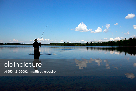 Fly fishing - p1553m2135082 by matthieu grospiron