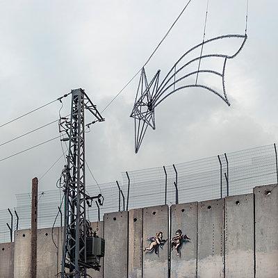 Israel, Israelische Mauer in Bethlehem  - p1542m2204101 von Roger Grasas
