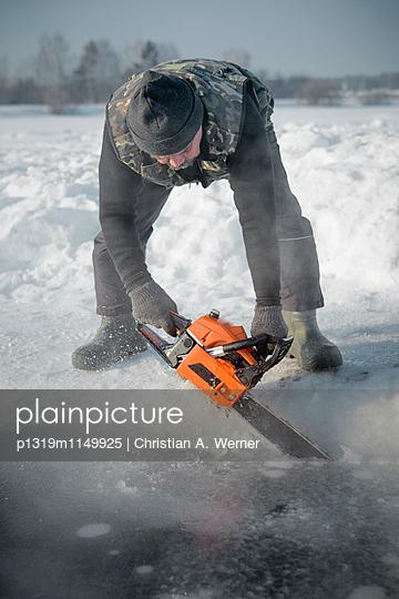 Beim Eisbaden - p1319m1149925 von Christian A. Werner