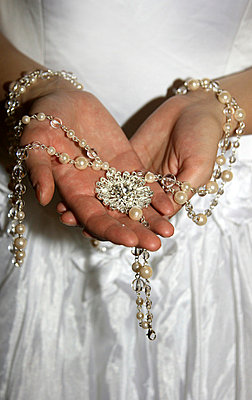 Bride with pearls - p4760335 by Ilona Wellmann