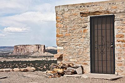 acoma pueblo detail - p1691m2288582 by Roberto Berdini Bokeh