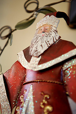 Red Father Christmas figurine - p349m789716 by Brent Darby