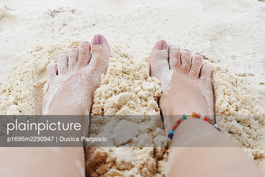 Feet in the sand - p1695m2290947 by Dusica Paripovic